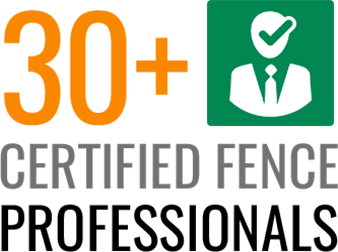 30+ Certified Fence Professionals