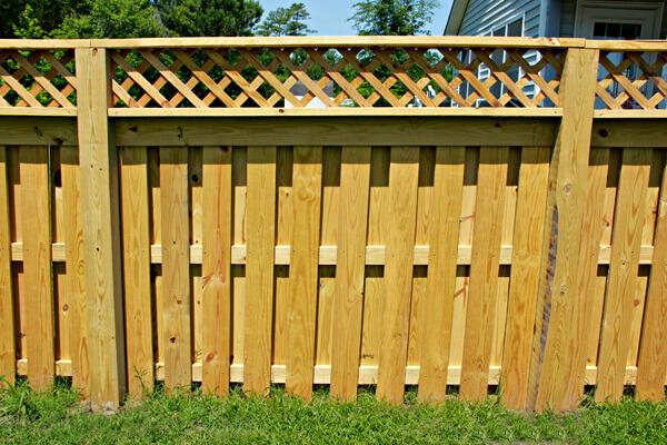 Wood With Lattice 2 1 Seegars Fence Company