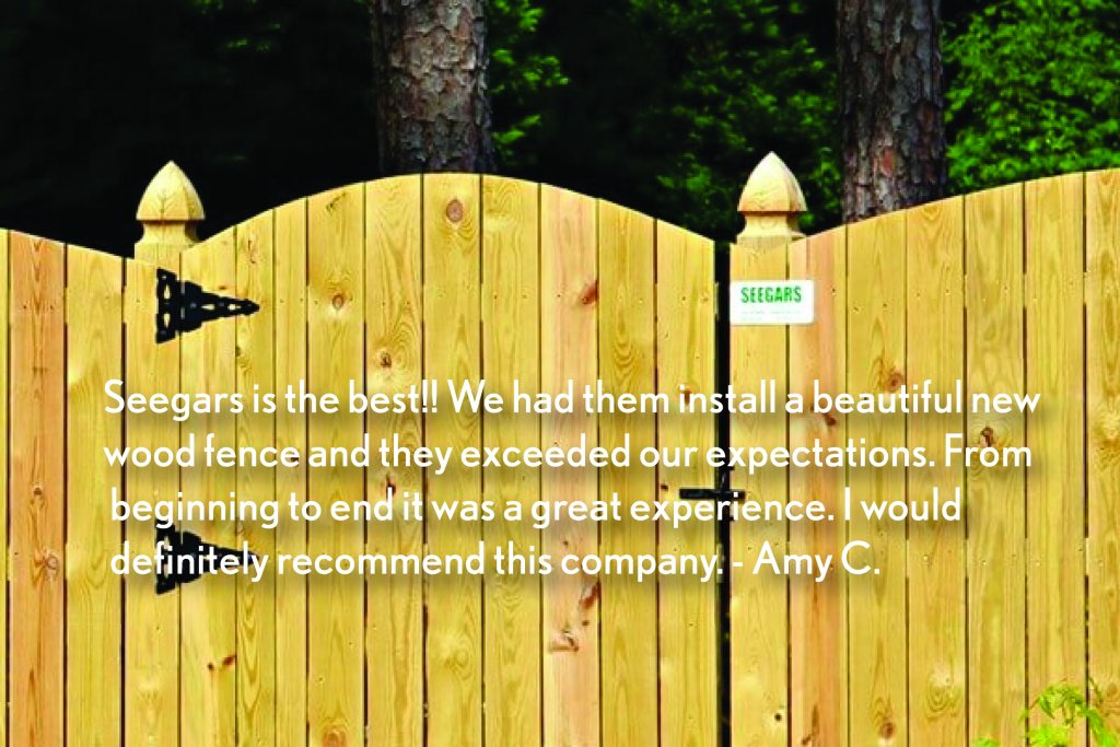 Rocky Mount Seegars Fence Company Privacy Chain Link Installation
