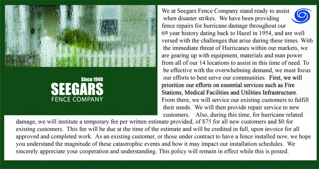Canelocal Seegars Fence Company