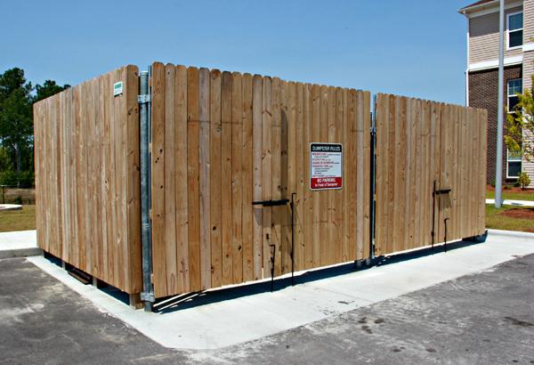 Temporary Fence Enclosures : Dumpster enclosure gates fences seegars fence company