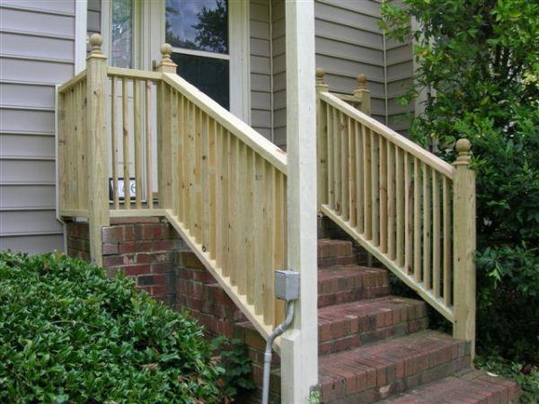 Custom Handrail Installations Steel Amp Vinyl Handrails Seegars Fence Company