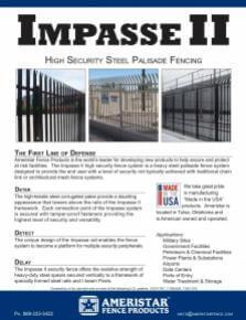 Impasse Ii High Security Steel Palisade Fencing