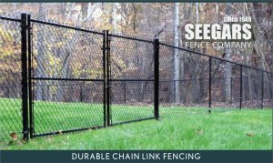 Goldsboro Black Chain Link Fence